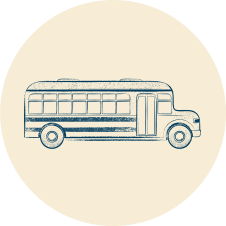 icon of a school bus